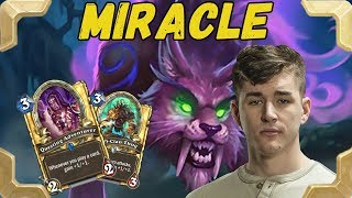 """Firebat is playing Miracle """"On the Prowl"""" Rogue deck (The Witchwood)"""
