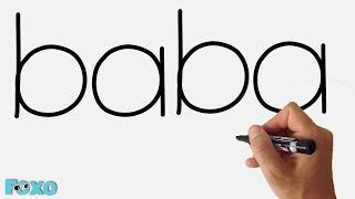 Szó rajz #1 - Család rajzolása BABA szóból - vicces videó szülinapi kártya