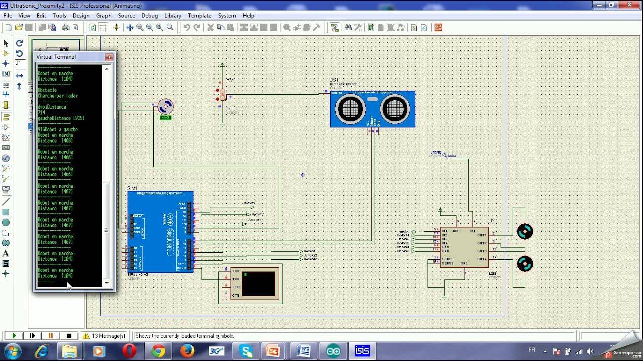 arduino capteur ultarson drive moteur isis youtube. Black Bedroom Furniture Sets. Home Design Ideas