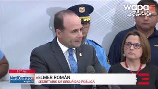 Elmer Román descarta activar la Guardia Nacional ante la ola criminal