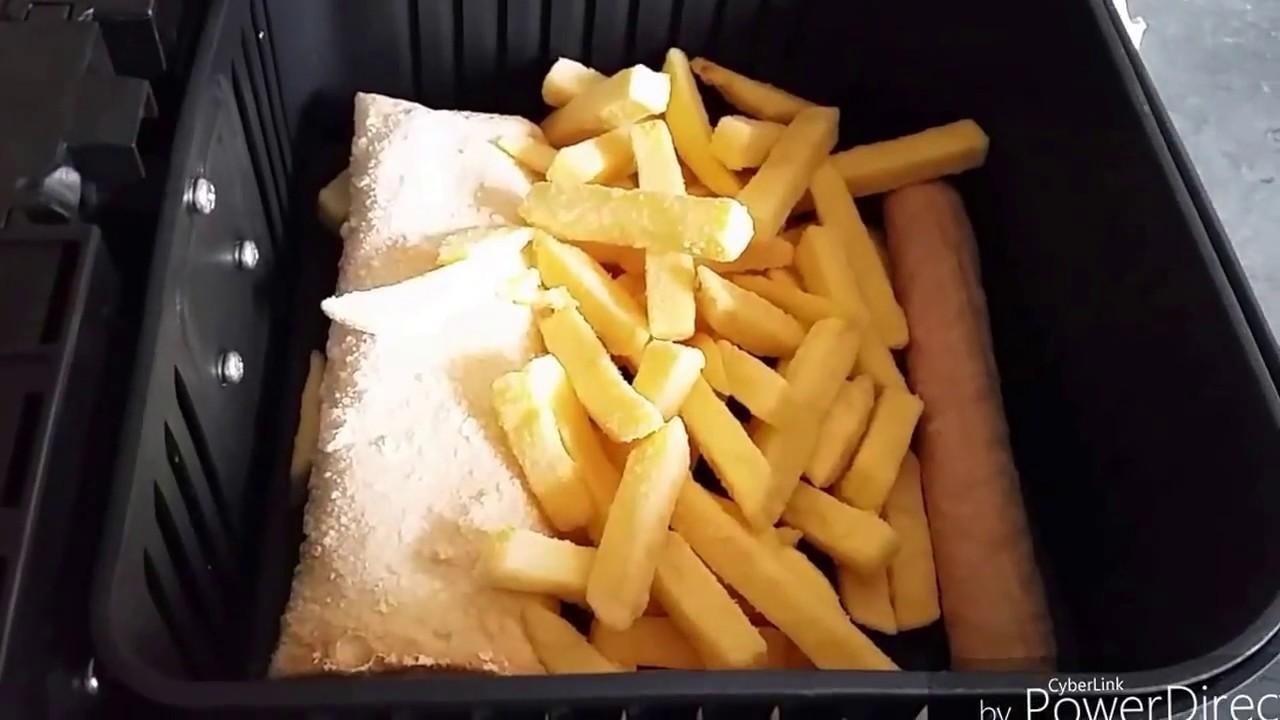 Eten Uit De Airfryer Patat Loempia En Frikandel Youtube