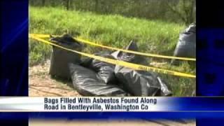 8 Bags Of Asbestos Found Next To Washington Co. Road