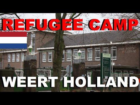REFUGEE CAMP IN WEERT HOLLAND Asielzoekerscentrum in Weert Holland FLÜCHTLINGSLAGER IN WEERT HOLLAND