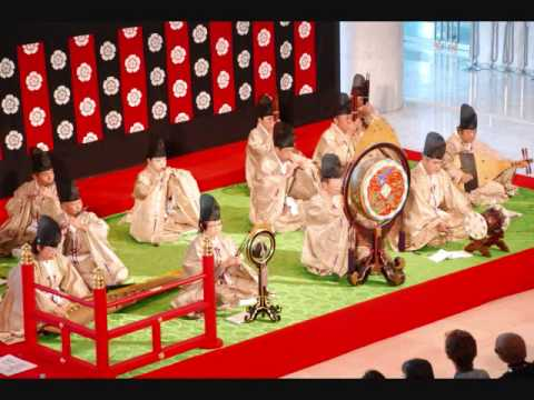 Historic recording of a saibara (催馬楽) court song from Medieval Japan