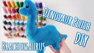 Dinosaur Plush Sewing Tutorial Brachiosaurus