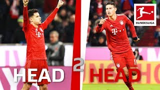 James Rodriguez vs Philippe Coutinho The Ball Magicians in Head to Head