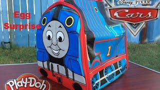 Thomas and Friends Toy Trains, Disney Cars  Toys in Surprise Egg, Play Doh