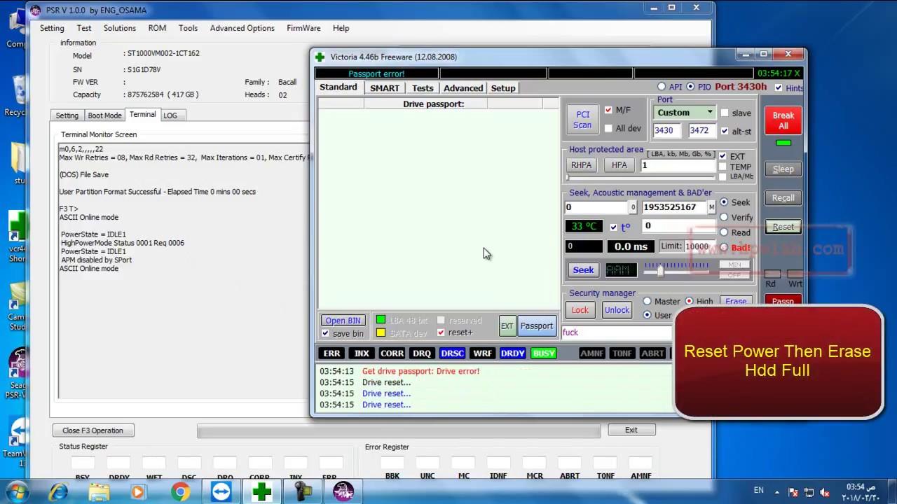 Cut seagate F3 HDD any Head