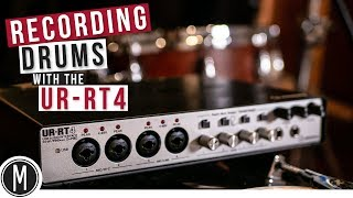 Recording Live DRUMS with the Steinberg UR-RT4 / Review