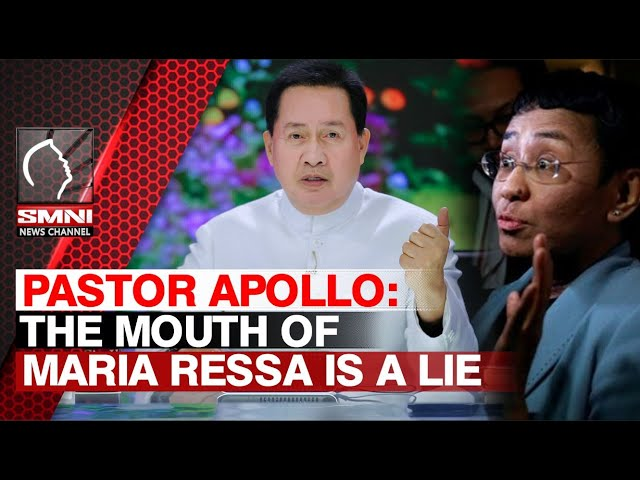 Pastor Apollo: The mouth of Maria Ressa is a Lie