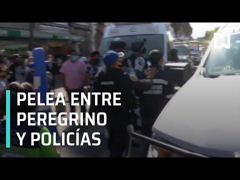 Peregrino se enfrenta a golpes con policías en la Basílica de Guadalupe - Despierta