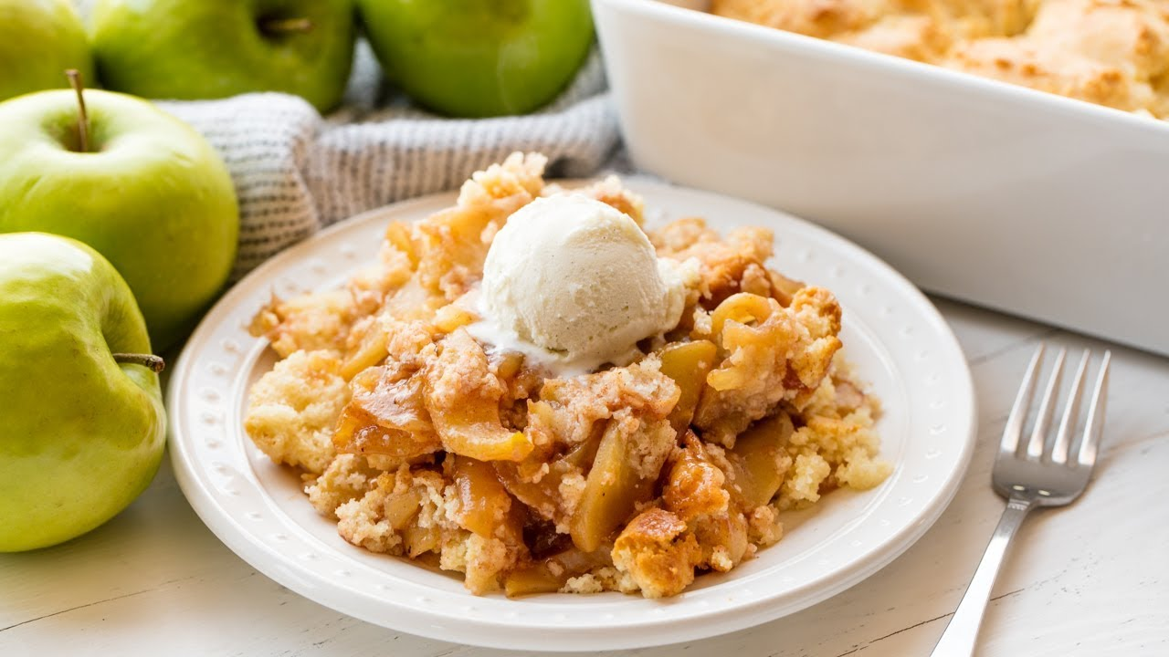 Download How to Make Old Fashioned Apple Cobbler | The Stay At Home Chef