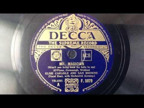 """Elsie Carlisle & Sam Browne - """"Mr. Magician"""" (1934)"""