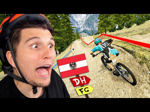 Die geilste Downhill Strecke in ÖSTERREICH!   Der Fahrrad Simulator
