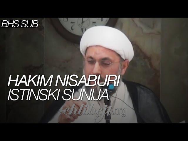 Hakim Nisaburi istinski sunija (Šejh Abdullah Dashti)