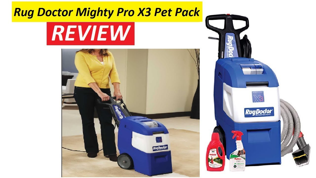 Rug Doctor Mighty Pro X3 Pet Pack Deep Carpet Cleaning