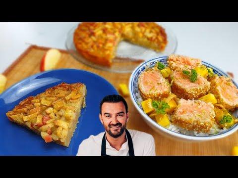 tous-en-cuisine-#45---le-moelleux-aux-pommes-et-saumon-croustillant-a-la-mangue-de-cyril-lignac-!