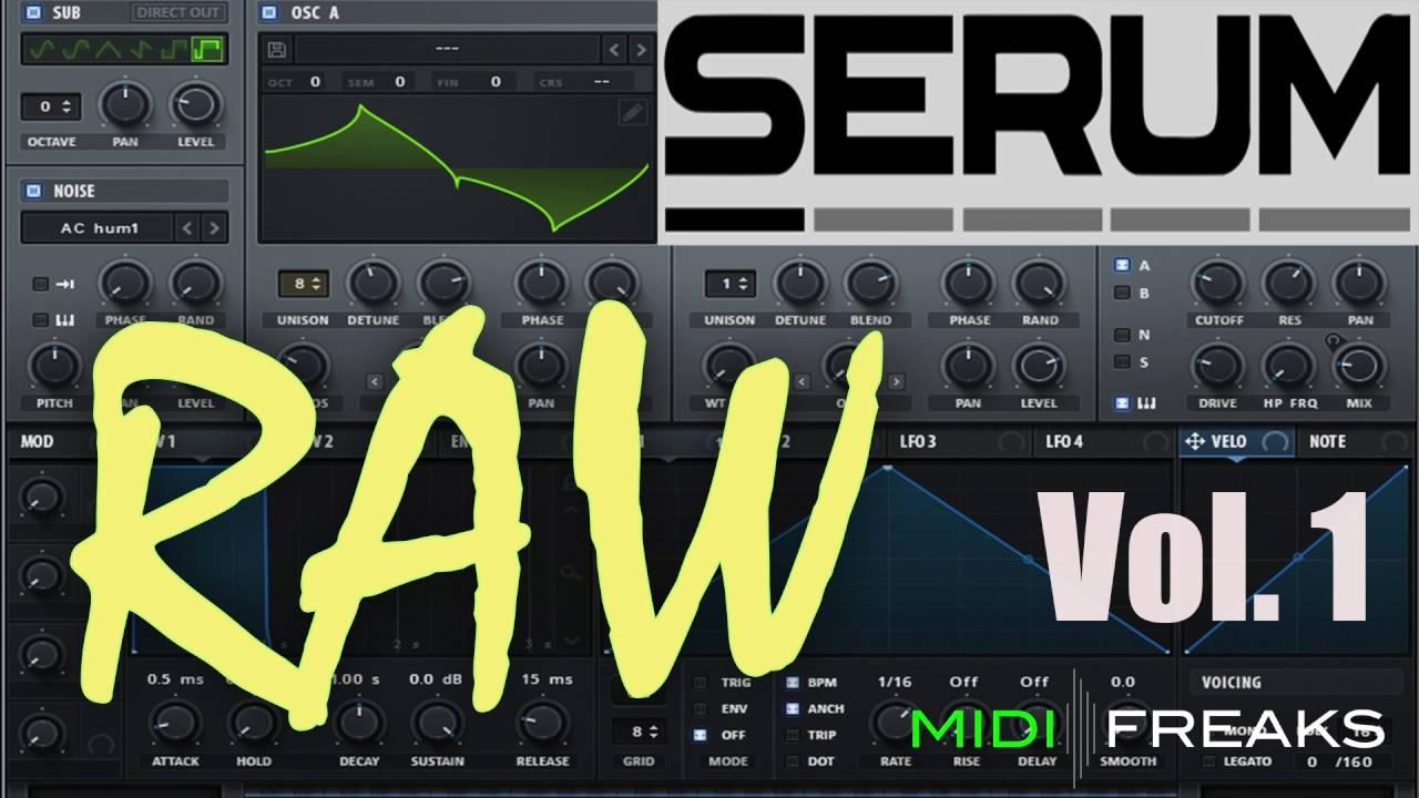 Midifreaks - Serum RAW Vol 1 - Kick & Presets