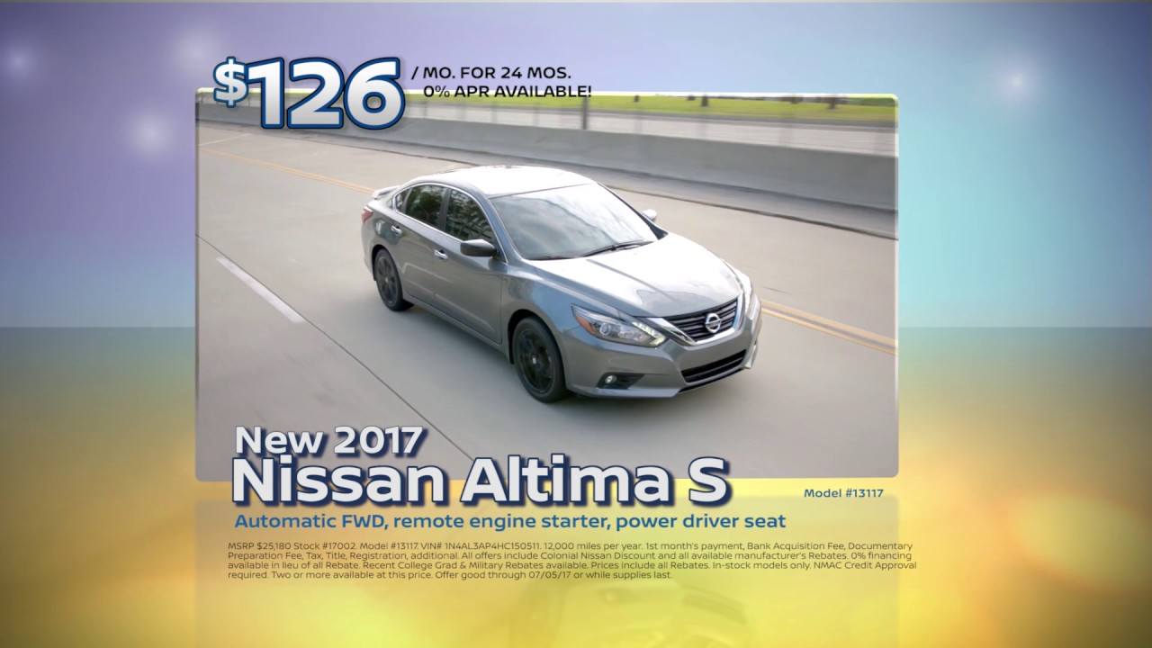 Colonial Nissan Of Medford June Altima Lease Special