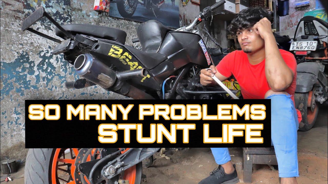 Stunt riders problems