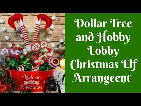 Easy Christmas Crafts: Dollar Tree and Hobby Lobby Christmas Elf Centerpiece