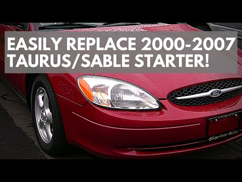 How To Replace A 2000-2007 Ford Taurus Or Mercury Sable 3.0 Starter