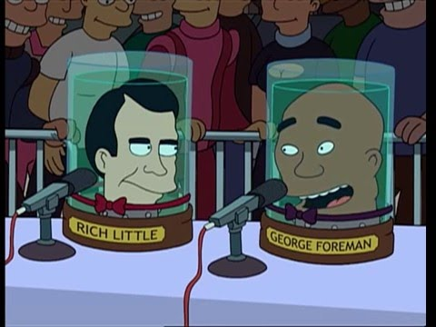 Futurama - 80 foot tall mechanical Joe Frazier