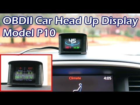 OBDII Head Up Display (HUD) Model P10 Full Review