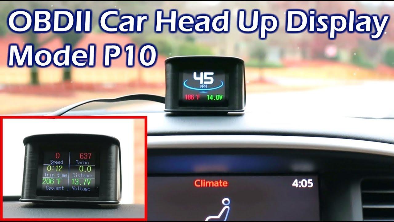 WonVon HUD Head Up Display,A501 Car OBD2 Gauge with Holder Driving Speed Meter Fuel Water Temperature Digital Display