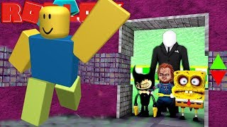 NOOBS AGAIN IN THE ELEVATOR OF FEAR / Roblox English