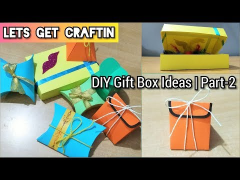 Easy DIY Gift Box Ideas | Paper Boxes | Part-2