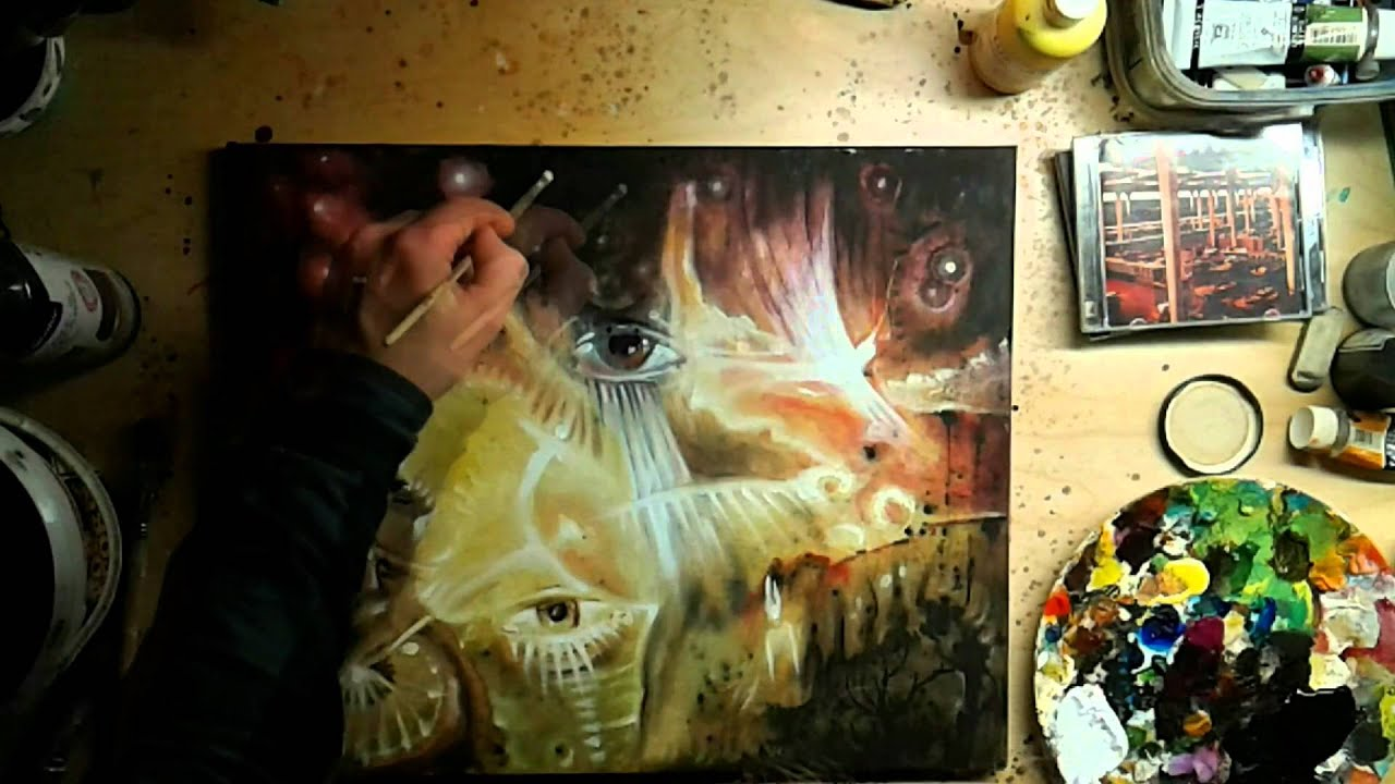 Spontaneous Music Inspired Painting To Music Of The Band Luxury Time Lapse Youtube