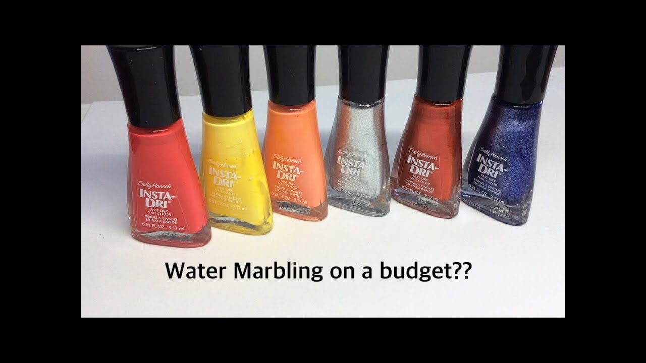 Water Marbling on a budget?? | Sally Hansen Insta Dri test!