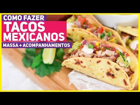COMO FAZER TACOS MEXICANOS CASEIROS! Receita da Massa de Taco Shell + Guacamole + Recheio | RM 514