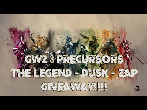 Guild Wars 2 - 3 PRECURSORS DROPS (The Legend - Dusk - Zap) Mystic Forge - Tips & Tricks
