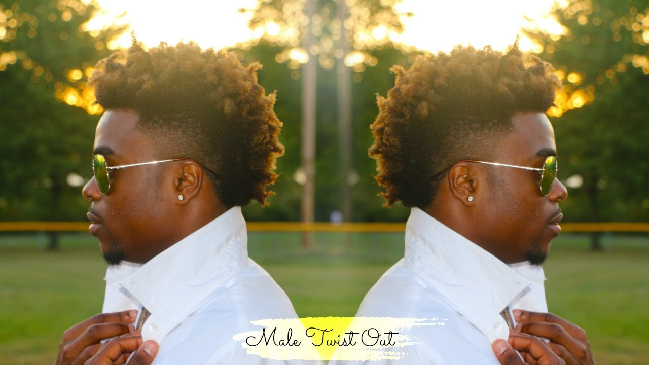 2 Strand Twist Out On A Mohawk Male Version Youtube