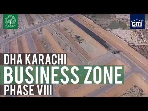 A Bird's Eye View of DHA Business Zone - DHA Karachi Phase VIII