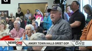 Angry Town Halls Greet The GOP, Voters Demand Answers On 'Obamacare'
