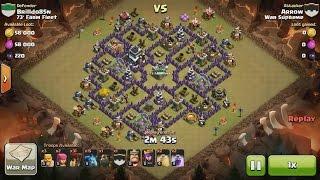 Clash of Clans TH9 vs TH9 [Premature] Lava Hound, Balloon & Minion (Lavaloonion) 3 Star Attack
