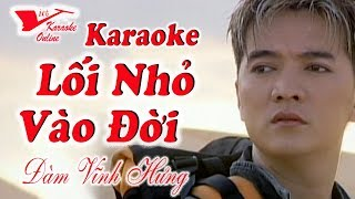 Karaoke Loi Nho Vao Doi Dam Vinh Hung