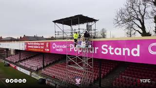 Pop Stand Clock taken down at Bootham Crescent