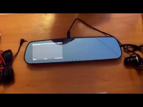 Автомобильное зеркало с видеорегистратором и камерой