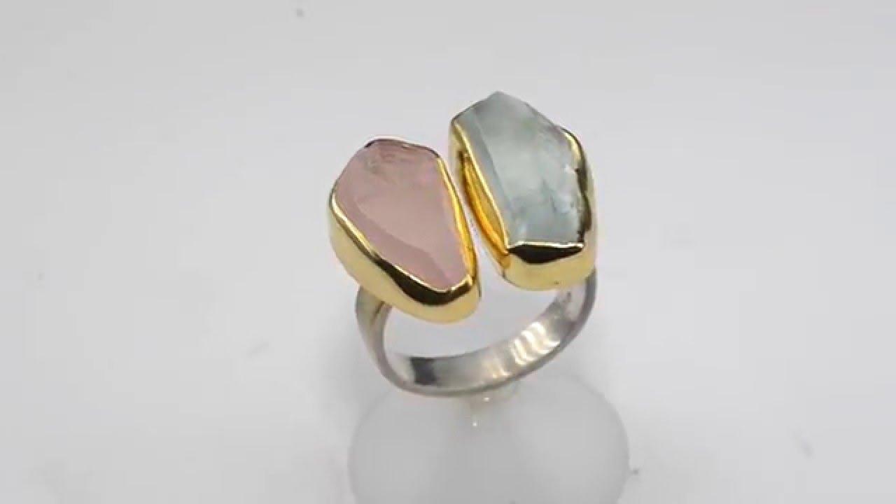 Χειροποίητο δαχτυλίδι με ορυκτές πέτρες 925 021032 - YouTube c16f7ee83c1