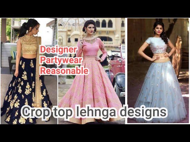 LATEST crop top LEHNGA designs at Chandni Chowk, Delhi / Wedding Special 2018