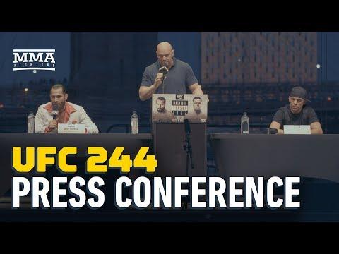 UFC 244 video: Nate Diaz shuts down media member for dumb question about vegan diet