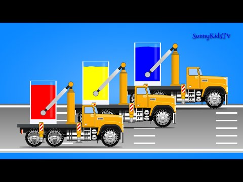 Thumbnail: Trucks for kids. Learn colors. Mix Colors. Video for children, kids, toddlers.