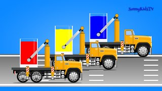 Trucks for kids. Learn colors. Mix Colors. for children, kids, toddlers.