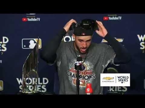 Houston Astros Justin Verlander, Jose Altuve entrevista serie final 2017 game 7