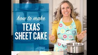 How to Make CHOCOLATE TEXAS SHEET CAKE {Recipe Video}