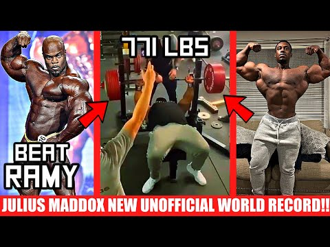 Julius Maddox NEW Unofficial World Record + Brandon's Plan to Beat Big Ramy + Steve Laureus GAINS